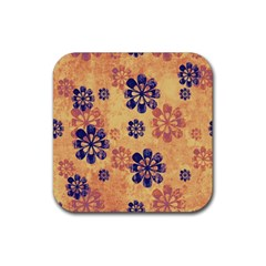 Funky Floral Art Drink Coaster (square)