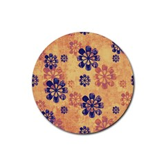 Funky Floral Art Drink Coasters 4 Pack (Round)