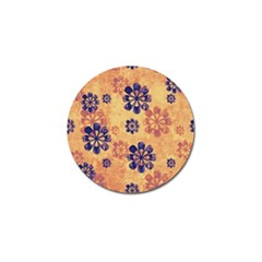 Funky Floral Art Golf Ball Marker
