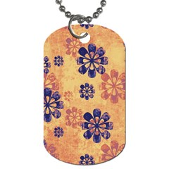 Funky Floral Art Dog Tag (two Sided)