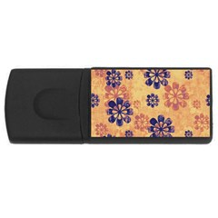 Funky Floral Art 2GB USB Flash Drive (Rectangle)