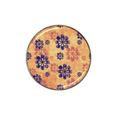 Funky Floral Art Golf Ball Marker 4 Pack (for Hat Clip)