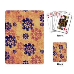 Funky Floral Art Playing Cards Single Design