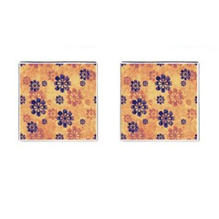 Funky Floral Art Cufflinks (Square)