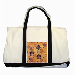 Funky Floral Art Two Toned Tote Bag