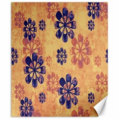 Funky Floral Art Canvas 8  x 10  (Unframed)