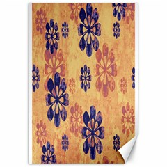 Funky Floral Art Canvas 12  x 18  (Unframed)