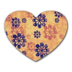 Funky Floral Art Mouse Pad (heart)