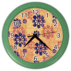 Funky Floral Art Wall Clock (Color)