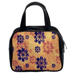 Funky Floral Art Classic Handbag (Two Sides)