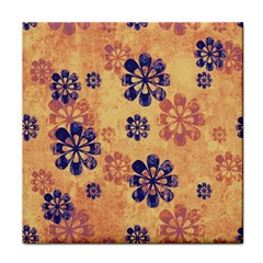 Funky Floral Art Face Towel