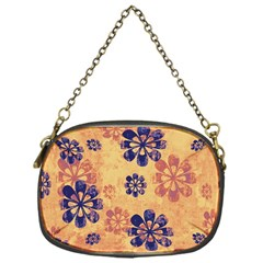 Funky Floral Art Chain Purse (One Side)