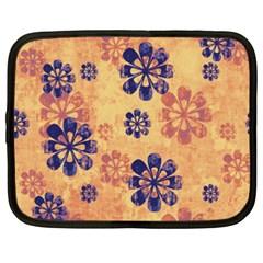 Funky Floral Art Netbook Sleeve (XXL)