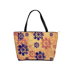 Funky Floral Art Large Shoulder Bag