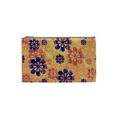 Funky Floral Art Cosmetic Bag (Small)