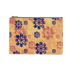 Funky Floral Art Cosmetic Bag (Large)