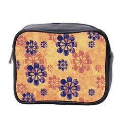 Funky Floral Art Mini Travel Toiletry Bag (Two Sides)