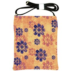 Funky Floral Art Shoulder Sling Bag