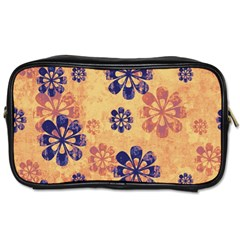Funky Floral Art Travel Toiletry Bag (two Sides)