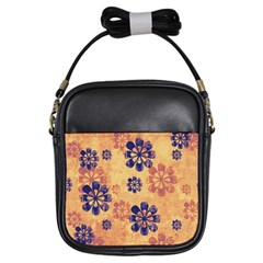 Funky Floral Art Girl s Sling Bag