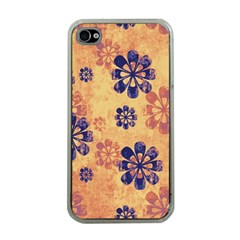 Funky Floral Art Apple iPhone 4 Case (Clear)