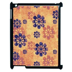 Funky Floral Art Apple Ipad 2 Case (black)