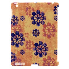 Funky Floral Art Apple iPad 3/4 Hardshell Case (Compatible with Smart Cover)
