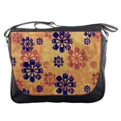 Funky Floral Art Messenger Bag