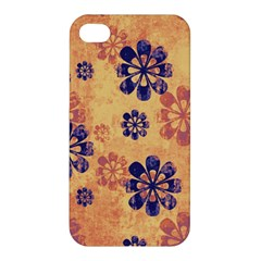 Funky Floral Art Apple iPhone 4/4S Premium Hardshell Case