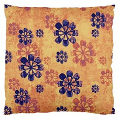 Funky Floral Art Large Cushion Case (Two Sided)