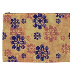 Funky Floral Art Cosmetic Bag (xxl)