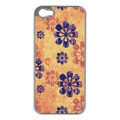 Funky Floral Art Apple iPhone 5 Case (Silver)