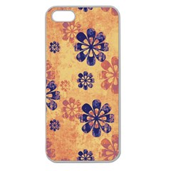 Funky Floral Art Apple Seamless iPhone 5 Case (Clear)
