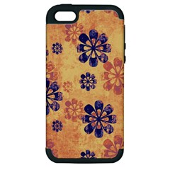 Funky Floral Art Apple Iphone 5 Hardshell Case (pc+silicone)