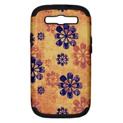 Funky Floral Art Samsung Galaxy S III Hardshell Case (PC+Silicone)
