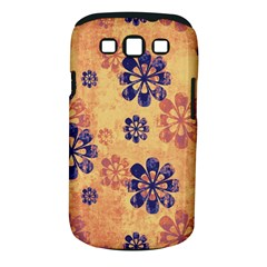 Funky Floral Art Samsung Galaxy S III Classic Hardshell Case (PC+Silicone)