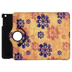 Funky Floral Art Apple iPad Mini Flip 360 Case