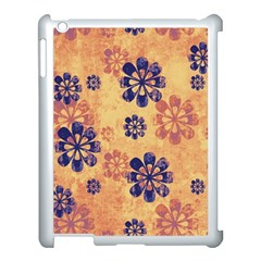 Funky Floral Art Apple Ipad 3/4 Case (white)