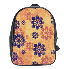 Funky Floral Art School Bag (xl)