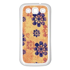 Funky Floral Art Samsung Galaxy S3 Back Case (white)