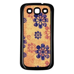 Funky Floral Art Samsung Galaxy S3 Back Case (Black)