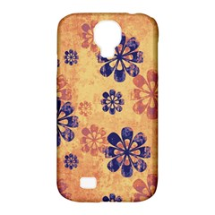Funky Floral Art Samsung Galaxy S4 Classic Hardshell Case (PC+Silicone)