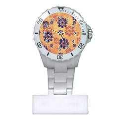 Funky Floral Art Nurses Watch