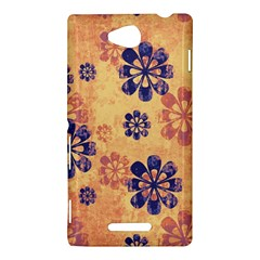 Funky Floral Art Sony Xperia C (S39h) Hardshell Case