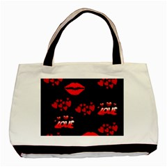 Love Red Hearts Love Flowers Art Classic Tote Bag