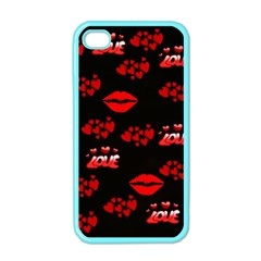 Love Red Hearts Love Flowers Art Apple Iphone 4 Case (color)