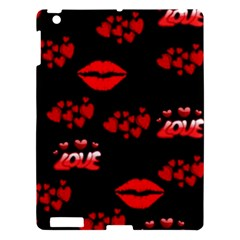 Love Red Hearts Love Flowers Art Apple Ipad 3/4 Hardshell Case
