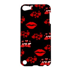 Love Red Hearts Love Flowers Art Apple iPod Touch 5 Hardshell Case