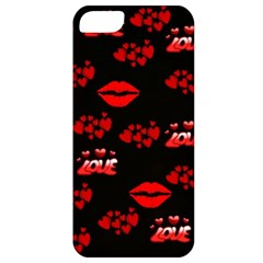Love Red Hearts Love Flowers Art Apple Iphone 5 Classic Hardshell Case