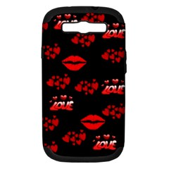 Love Red Hearts Love Flowers Art Samsung Galaxy S Iii Hardshell Case (pc+silicone)